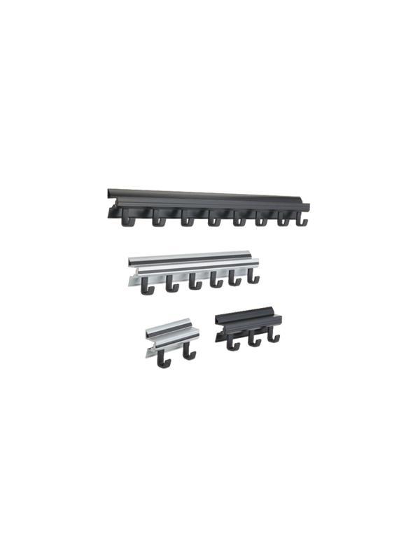 Percheros de pared de diseño - Percheros de pared de diseño Estructura de aluminio extrusionado y colgadores en ABS negro Disponible con 2,3,6 y 8 colgadores.