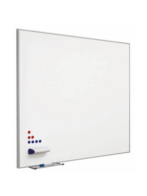 """Pizarra acero vitrificado - Pizarra acero vitrificado marco """"Mini"""" Pizarra mural blanca enmarcada a inglete con perfil de aluminio anodizado"""