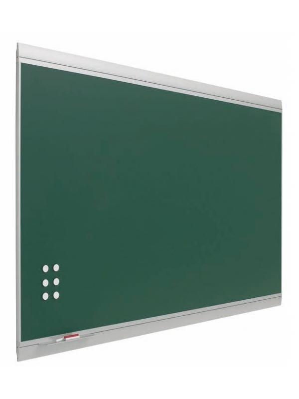 """Pizarra verde enmarcada con perfil de diseño. - Pizarra verde """"Z"""" de acero vitrificado de diseño. Pizarra verde enmarcada con perfil de aluminio anodizado en color plata (tapa personalizable). Superficie magnética de acero vitrificado a 700º C con garantía de por vida. Incluye reposatizas y 2 ganchos portamapas. Colores: verde, azul, gris y negro.  Medidas:  80x100 100x120 120x200 120x200 120x250 120x300  Medidas con cuadriculas:  100x120 120x150 120x200 120x300  medidas con pentagrama:  120x150 120x200 120x300"""