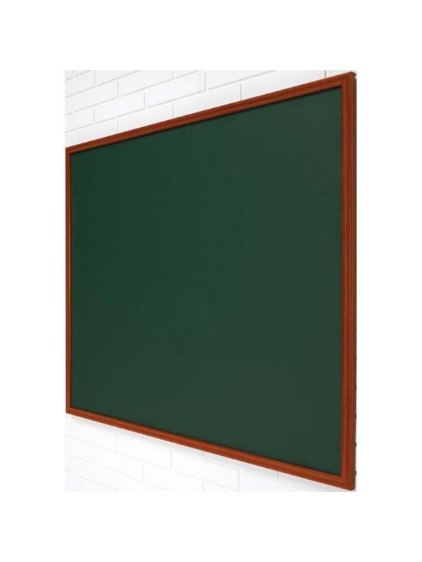 Pizarra verde marco madera - Pizarra verde marco madera Pizarra mural verde enmarcada en madera. Superficie laminada para escritura con tiza. La superficie laminada es óptima para uso frecuente. Ideal para escuelas y hostelería.