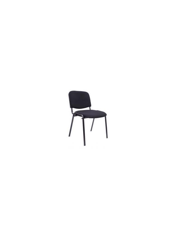 Silla confidente - Silla confidente. (precio pack de 4 unidades) Montada sobre tubo oval de 30 x 15 mm y 1,5 mm de espesor, pintados en epoxi negro. Densidad de espuma de 16 mm y 1,5 mm de espesor, pintados en epoxi negro. Densidad de la espuma 24 kg/m3. Anchura del asiento de espuma de 30 mm y 20 mm en respaldo. Interior del asiento y respaldo en madera de 10 mm.