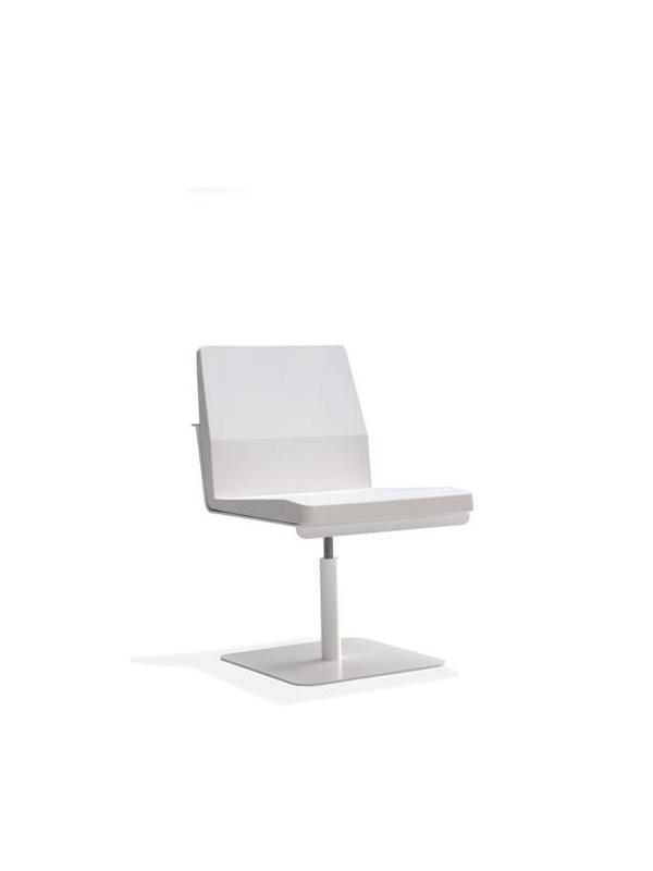 Silla confidente - Silla confidete Estructura de aluminio color blanca Sillón con revolving Plataforma de Acero
