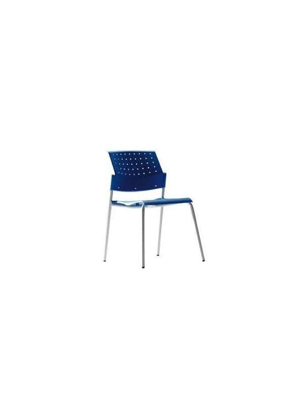 Silla de oficina-brazos opcionales - Silla de oficina. Diferentes acabados.  Posibilidad de respaldos en malla, en PVC perforado o tapizado y asientos en PVC o tapizados. Terminaciones de PVC en distintos colores.  Brazos de PVC fijos.