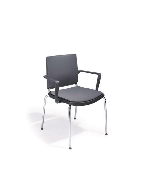 Silla confidente - Silla confidente Estructura cromo. Respaldo