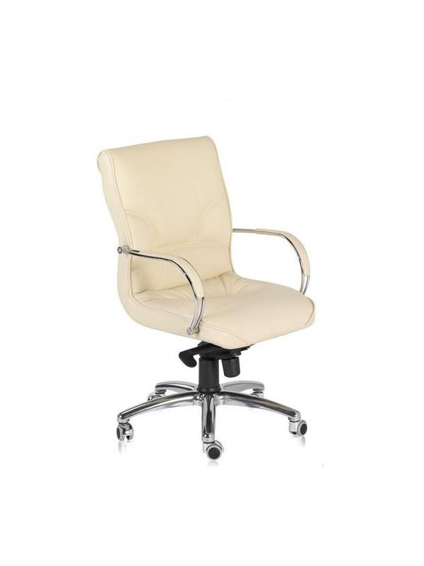 Silla de oficina  - Silla de oficina Base aluminio,rueda cromo,brazo cromado.