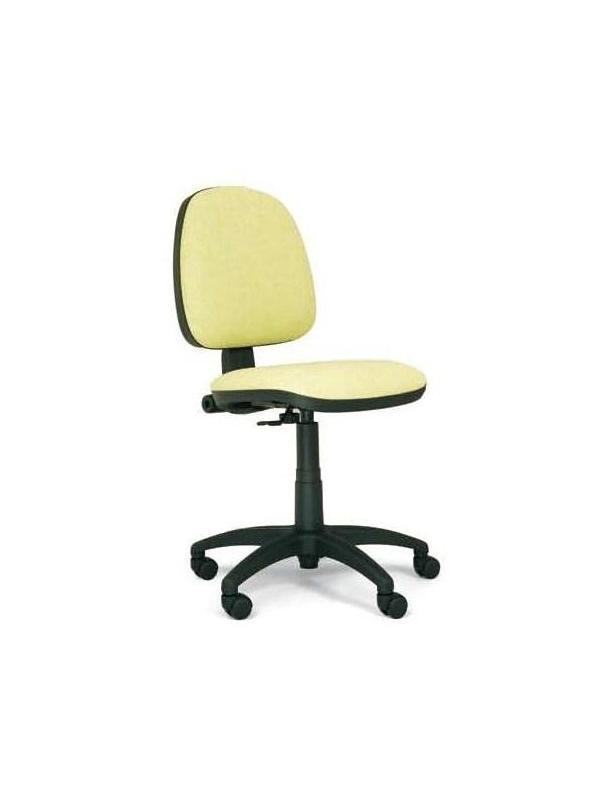 Silla de oficina respaldo medio - Silla operativa ergonómica. Mecanismo contacto permanente. Regulación en altura del respaldo, y de profundidad del asiento, base en poliamida y brazos en poliuretano.