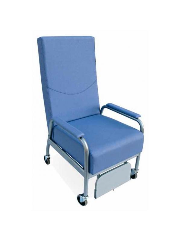 Sillón geriátrico - Sillón geriátrico Orientado a cubrir las necesidades de traslado de una manera eficiente. Se encuentra también disponible en versión de respaldo reclinable.