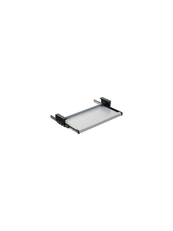 Soporte teclado bajo mesa - Serie de bandejas para el teclado regulables en altura y extraíbles para colocar bajo cualquier tablero disponibles en cuatro medidas.