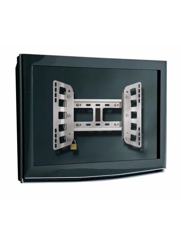 """Soporte mural o pared para pantallas LCDs - Soporte pantalla mural """"TR"""" Serie de soportes muraleso pared metálicos para pantallas de LCD / plasma de 32 hasta 65 pulgadas y un máximo de 80 kg. Incluyen sistema de seguridad con candado. Acabado en color gris metalizado. Ideal para grandes formatos (XL y XXL)."""