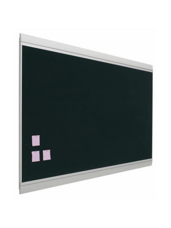 Tablero de anuncios - tapizado - Tablero de corcho tapizado Tablero de corcho ZNT enmarcado con perfil de aluminio anodizado en color plata (tapa personalizable). Superficie de corcho tapizada en colores. Se pueden fijar sobre su superficie notas, avisos, pósters, etc, mediante agujas o chinchetas.