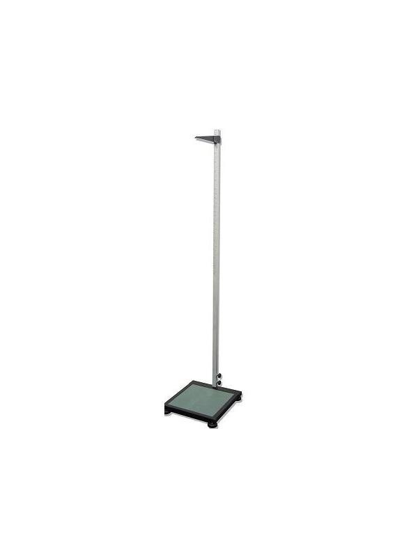 Tallímetro - Tallimetro de plataforma fabricado en aluminio anodizado. Indicador de plástico negro. Plataforma fabricada en aluminio lacado en negro Patas niveladoras. Altura: 75-250 cts. División: 0.5 cts