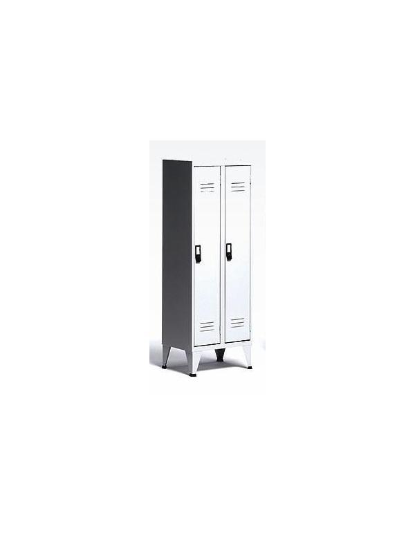 Taquilla vestuario - Taquilla de vestuario Dos puertas.   Se sirve montada