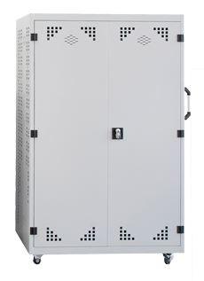 Armario con estantes para audiovisuales