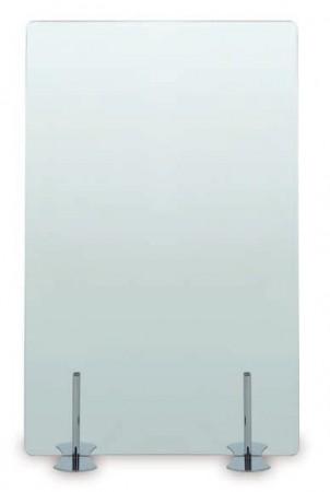 Biombo para oficinas de cristal transparente, translúcido o en color - Biombo para oficinas de cristal (transparente, translúcido o en color a elegir),soportado por patas de acero en diferentes colores. Varios tamaños a escoger, que van desde los 80 cm de ancho hasta los 180 cm de alto, a los que se pueden añadir todas las extensiones necesarias para diseñar la separación de espacios a tu gusto del espacio de trabajo.  Consultar medidas y precios.