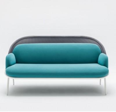 sofa 2 plazas con panel mediano malla - Línea de sofás contemporánea de novedad en la web, pregúntanos.
