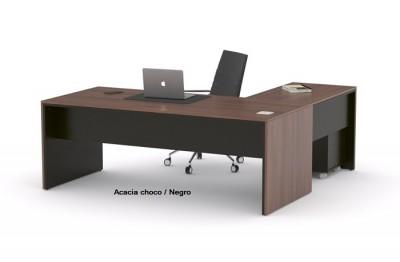 Despacho de oficina de diseño maderas intercambiables. - Despacho de oficina de diseño con maderas intercambiables, combina a tu gusto los dos tableros que componen cada mesa de trabajo o de despacho, para crear el ambiente que mas te guste.