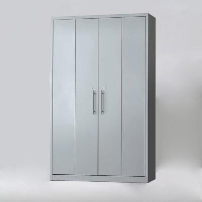 Armario de puertas articuladas con 4 estantes - Armario metálico de puertas articuladas con 4 estantes.  - Estructura metálica de chapa de acero de 0.8 mm monobloque. - Opción de Tirador en acero inoxidable (+10€) o tirador pvc. - Incluye Llave y cerradura. - Interior 4 estantes de doble uso para documentos y carpetas colgantes.