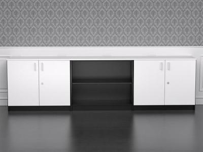 Armarios de oficina de la serie moderna - Como en el resto de la serie puedes combinar los colores de los armarios a tu gusto, el perímetro puede ir en un color y las baldas y las puertas en otro.