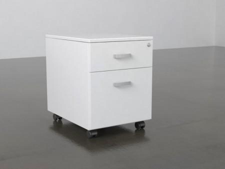 Cajonera con 1 cajón y 1 archivo para carpetas colgantes - Cajonera rodante para colocar bajo la mesa con ruedas y cerradura, dispone de con 1 cajón y 1 archivo para carpetas colgantes. Cerradura con cierre centralizado. Elige el color que quieras, puedes combinar el color de los laterales y el de los frentes de los cajones o dejarla toda en el mismo color.   La medida es de 60x43x56 cm.
