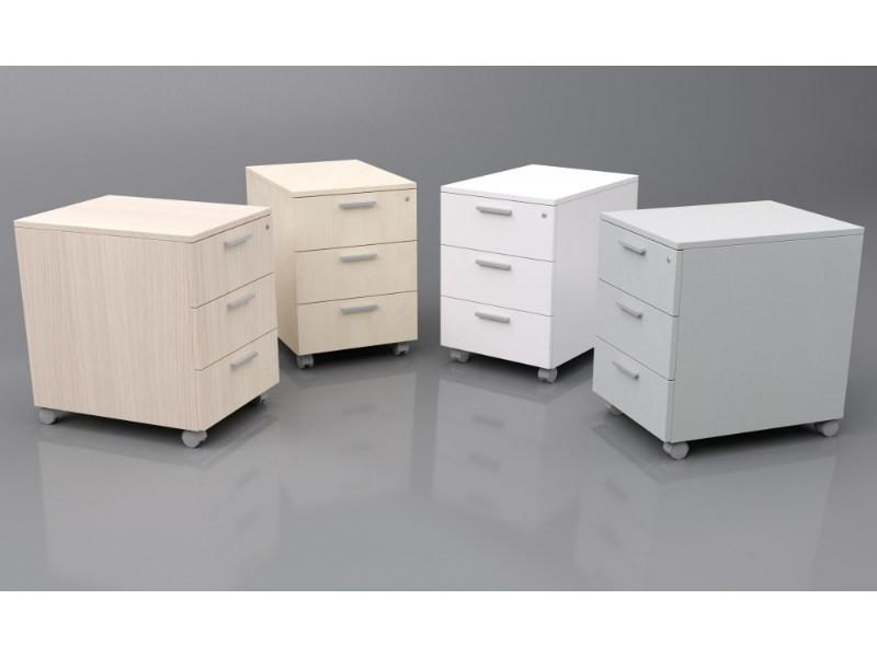 Cajoneras oficina Sevilla - Cajoneras/Bucks acabado melamina con patas o ruedas. Puedes escoger entre distintos modelos y medidas (3-4 cajones, 1-2 cajones y archivador o 2 archivadores).