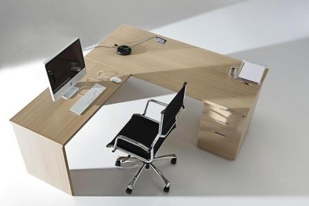Mesa con la auxiliar de 180*80*74 cm. - Mesa de oficina línea basic -180 cm. de larga x 80 cm. de fondo x 74 de altura -canteada en pvc anti-golpes