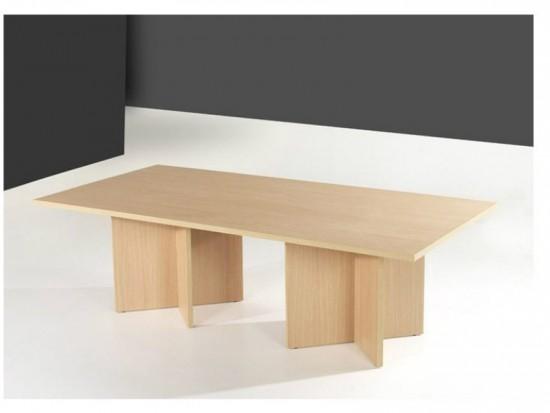 Mesa de reunion 180*120 - Mesa de reuniones rectangular de 180 cm. de larga por 120 cm. de ancha con patas en forma de aspa en tablero laminado de 30 mm de espesor.También se fabrica con patas de tubo(metálicas)