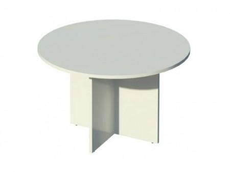 Mesa de reunion redonda - Mesa de reunion redonda de 120cm. de diametro pata es aspa fabricada en madera.Existe en 100, 110 y 130cm de diametro.posibilidad de pata tubo(metalica)