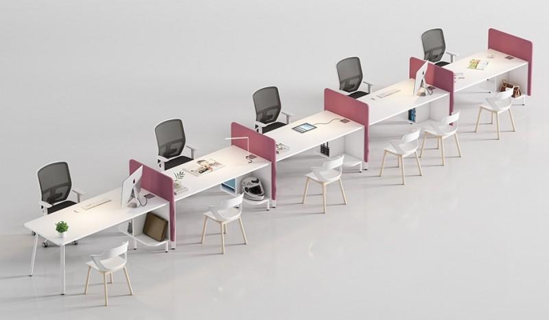Composición en linea de un servicio de atención al cliente - Composición en linea de un servicio de atención al cliente, por supuesto se puede elegir el color de los biombos de separación de espacios.