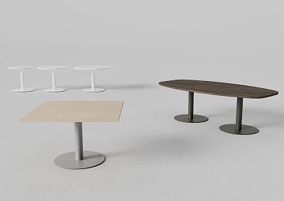 Mesa de reuniones doble peana