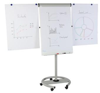 Pizarra móvil - Pizarra móvil metálica y magnética con un diseño muy limpio y cuidado, pensado para presentaciones, conferencias y reuniones.