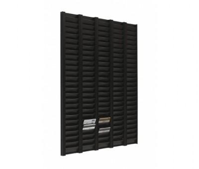 Planning portafichas - Planning portafichas Tarjetero de color negro para tarjetas de banda magnética tipo crédito, en forma