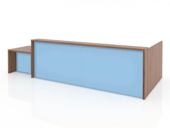 Recepción recta - - Recepción modular compuesta por un cuerpos de 125 cm de ancho x 65 cm de fondo y 118 cm de alto en melamina.   - Cajonera opcional (sumar 158 euros)