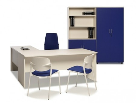 Mesa de oficina basic 200*80*74 cm. - Mesa de oficina línea basic -80 cm. de larga x 80 cm. de fondo x 74 de altura -canteada en pvc anti-golpes