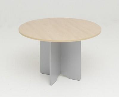 Mesa de reunion redonda - Mesa de reunion redonda varios diámetros. Construida en tablero de melamina de distintos acabados de la serie y pata en aspa. Otros acabados consultar.