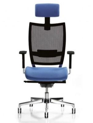 Silla directivo con cabezal y asiento ergonómico con soporte lumbar