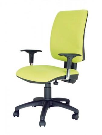 Silla oficina ergonómica - Sillón de oficina Tapizado en aran, varios colores a elegir. Estructura color negro  Respaldo alto regulable en altura Elevación a gas Base de poliamida