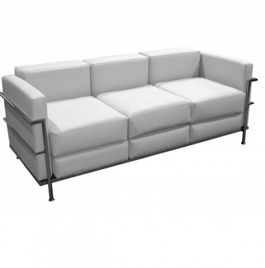 Sofá de diseño estructura de acero cromado