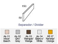 Separadores para mesa de 150*50 - Separadores de melamina para mesas en forma de isla de 150 x 50 cm.