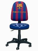 Silla del F. C. Barcelona - Silla oficial del F.C.Barcelona Con certificado de autenticidad Respaldo alto ajustable en altura y profundidad Elevación a gas ajustable en altura Radio de 5 ruedas Espuma de alta densidad Plazo de entrega : 15 días en domicilio