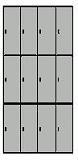 Taquillas casillero de 12 puertas - Casillero / ropero de vestuario de 12 puertas.  Medidas 180 cm. de alto x 103 cm. de ancho x 51 cm. de fondo