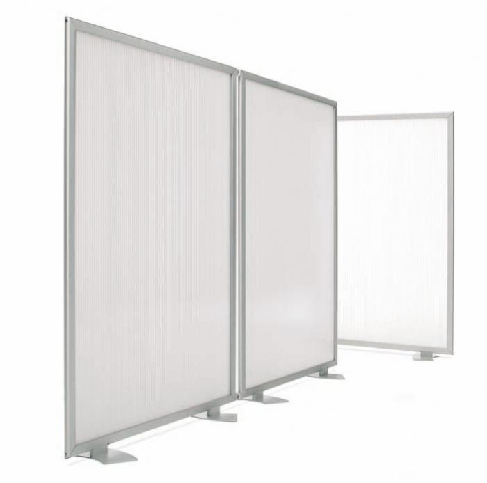 Biombo policarbonato muebles de oficina sillas de for Muebles para oficina mamparas