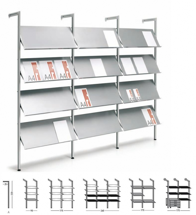 Estanter a met lica accesorios de oficina mobiliario de for Perfiles de estanterias metalicas