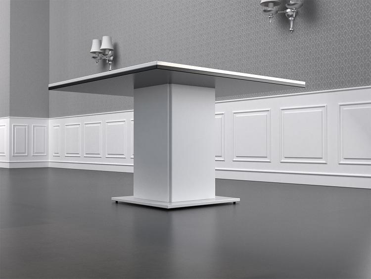 Mesa de reuniones blanca y negra de la serie moderna for Mesa cuadrada blanca