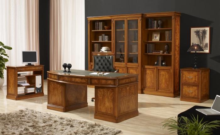 Mobiliario de oficina clasico mobiofic for Muebles para despacho