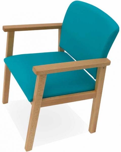 Sill n para geri trico mobiliario geri trico muebles de for Sillas comedor con reposabrazos
